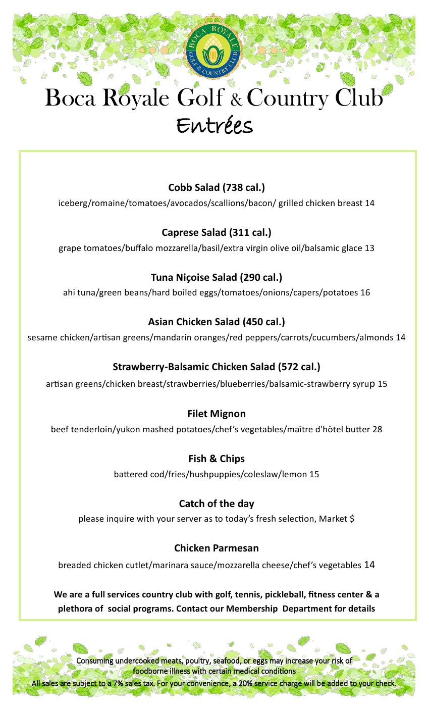 dinner menu wed  thurs  friday